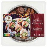 Carrefour Escargots au Beurre à l'Ail 12 Pièces 125 g