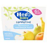 Hero Baby Compotine Harmonie de Fruits 6+ Mois 4 x 100 g