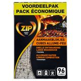 Zip Aanmaakblokjes Voordeelpak 96 Stuks