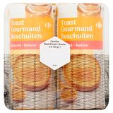 Carrefour Toast Beschuiten Natuur 2 x 125 g