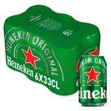 Heineken Canettes 6 x 33 cl