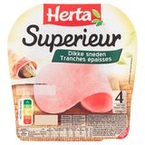 HERTA Superieur Ham 4 Dikke Sneden 170 g