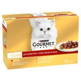 Gourmet Gold Aliment Chat Noisettes 12 x 85 g