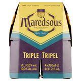 Maredsous Abdijbier Tripel Flessen 4 x 33 cl