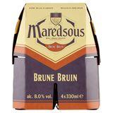 Maredsous Bière Belge d'Abbaye Brune 8° Bouteilles 4 x 33 cl