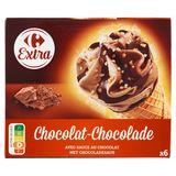Carrefour Hoorntjes Chocolade 6 x 68 g