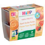 HiPP Biologique Pomme Fraise Myrtille 6+ Mois 4 x 100 g