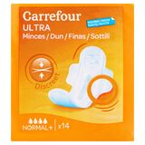Carrefour Ultra Dun Discreet Normal + 14 Stuks