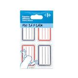 Carrefour Étiquettes adhésives bleu et rouge 36x56 mm 24 pièces