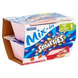 Nestlé Smarties Mix-in Yoghurt met Aardbei 2 x 120 g