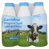 Carrefour Magere Melk 6 x 1 L