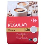 Carrefour Coffee Pads Regular Rijk 36 x 7 g