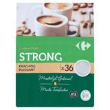 Carrefour Coffee Pads Strong Krachtig 36 x 7 g
