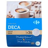 Carrefour Coffee Pads Deca Doux 36 x 7 g
