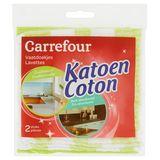 Carrefour Lavettes coton 2 pièces