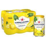 SANPELLEGRINO® Limonata Boisson Pétillante Fruitée Canette 6 x 0.33 L