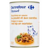 Carrefour Discount Bouchées en Sauce au Poulet et aux Carottes 400 g