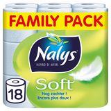 Nalys Soft Papier Toilette Family Pack 18 Rouleaux