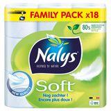 Nalys Soft 2 Lagen Toiletpapier 18 Rollen