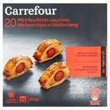 Carrefour 20 Miniworstjes in Bladerdeeg 350 g
