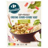 Carrefour Kip Groene Curry en Basmatirijst 450 g