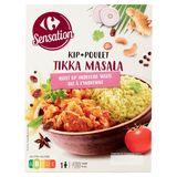 Carrefour Sensation Poulet Tikka Masala Riz à l'Indienne 450 g