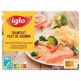 Iglo Filet de Saumon Sauce Moutarde et Légumes 450 g
