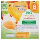 Carrefour Baby Bio Appel Kweepeer vanaf 6 Maanden 4 x 100 g