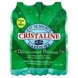 Cristaline Eau de Source Gazéifiée 6 x 1.5 L