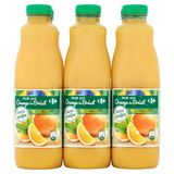 Carrefour Pur Jus Orange du Brésil sans Pulpe 6 x 1 L