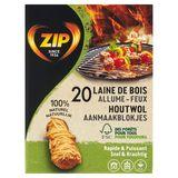 Zip Natuurlijke Aanmaakblokjes 20 Stuks