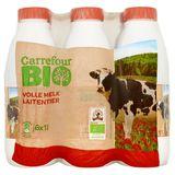 Carrefour Bio Lait Entier 6 x 1 L