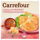 Carrefour Crêpes de Froment Jambon Fromage 6 x 50 g