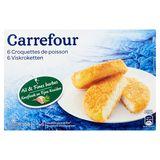 Carrefour 6 Croquettes de Poisson Ail & Fines Herbes 6 x 50 g