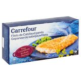 Carrefour Filets de Cabillaud Panés 4 Pièces 500 g
