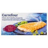 Carrefour Gepaneerde Kabeljauwfilets 4 Stuks 500 g