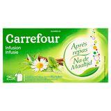 Carrefour Après Repas Infusion Menthe, Verveine, Camomille, Réglisse 25 x 1.6 g