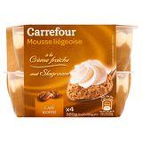 Carrefour Mousse Liégeoise met Slagroom Koffie 2 x (2 x 80 g)