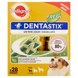 Pedigree DentaStix Fresh Dagelijks Pedigree Hondensnacks Mini 5-10 kg 28 Stuks 440 g