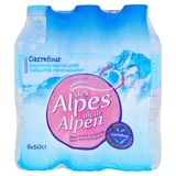 Carrefour Natuurlijk Mineraalwater Uit de Alpen 6 x 50 cl