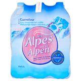 Carrefour Natuurlijk Mineraalwater Uit de Alpen 6 x 1.5 L