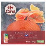 Carrefour Saumon Fumé Écosse 4 Tranches 140 g