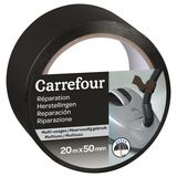 Carrefour Plakband voor herstellingen 20m x 50mm - Zwart