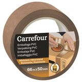 Carrefour Plakband voor het inpakken 66m x 50mm - Bruin