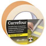 Carrefour Adhésif double face pour moquettes 20m x 50mm