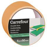 Carrefour Dubbelzijdige plakband 5m x 50mm