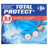Carrefour 3 en 1 Total Protect Tablettes Anti-Calcaire 45 x 12 g