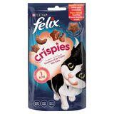 FELIX Crispies Nourriture Chat Saumon et Truite Biscuit Chat 45 g