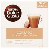 Nescafé Dolce Gusto Cortado Espresso Macchiato 16 Capsules 100.8 g