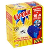 Vapona Tablette Anti-Moustiques Appareil + 10 Tablettes